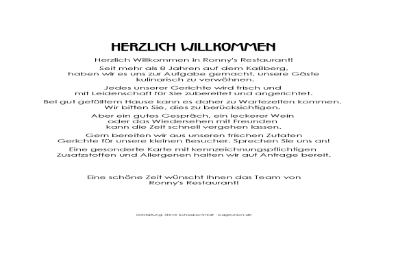 Speisekarte November 2016