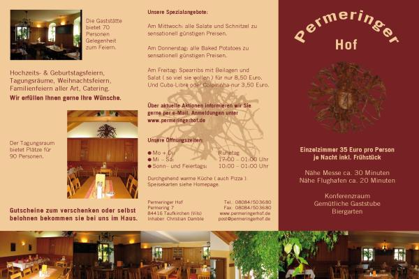 Permeringer Hof Hotels Gasthöfe In Taufkirchen Vils öffnungszeiten