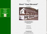 Website von Hotel Zum Dhrontal