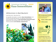 Website von Haus Sonnenblume