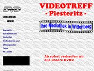 Website von Videotreff -Piesteritz-