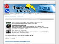 Website von Reuters Fahrschule