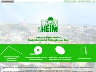 Website von Natur & Heim GmbH