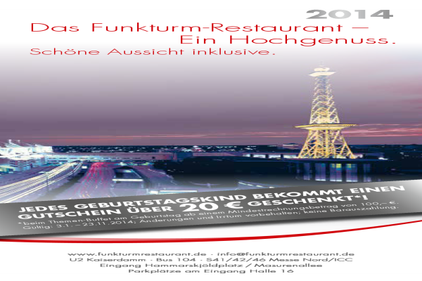 funkturm restaurant deutsche restaurants b rgerliche restaurants in berlin westend. Black Bedroom Furniture Sets. Home Design Ideas