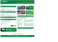 Website von National Car Rental
