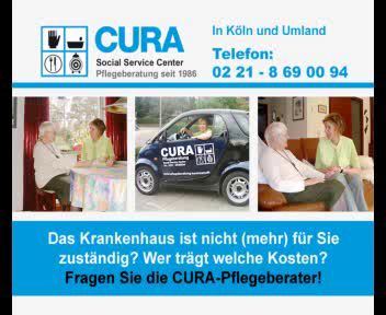 CURA Ambulante Pflege und Pflegeberatung Köln www.cura-koeln.de