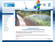 Website von Papenburg H. Brunnenund Rohrleitungsbau GmbH