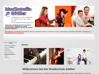 Website von Musikstudio Goettler