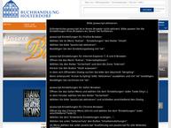 Website von Holterdorf e. Buchhandlung
