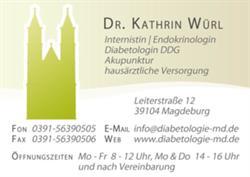 Dr. Kathrin Würl Ärztin für Innere Medizin, Akupunktur und Diabetologie