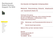 Website von Robert Semrau Rechtsanwalt Kappeln Mietr, Arbr, Erbr, Hartz IV