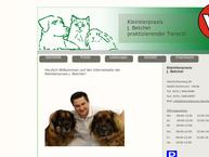 Website von Kleintierpraxis J. Betcher