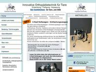 Website von Dieter Pfaff - Technische Orthopädie Für Tiere