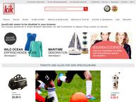 Website von KiK Textilien und Non-Food GmbH