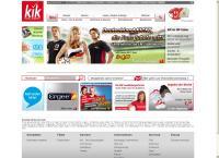 Website von Kik Textilien Wolgast