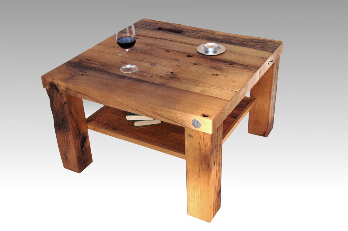 Wohnzimmertisch Naturholz  Designer Couchtisch altes Holz