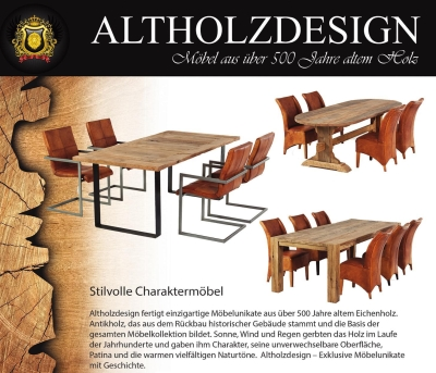 altholzdesign tische und m bel aus altholz in weberstedt. Black Bedroom Furniture Sets. Home Design Ideas