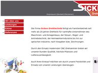 Website von Sicken Drehtechnik GmbH u. Co. KG