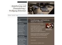 Website von Versicherungs. u. Darlehensmakler Wolfgang Schreiner