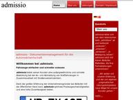 Website von admissio GmbH