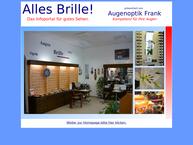 Website von Augenoptik Frank