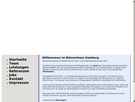 Website von Bühnenhaus Hamburg - Gesellschaft für Kultur- und Theaterdienstleistungen mbH