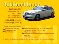 Website von Taxi Köhler