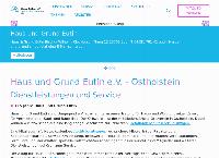 Website von Haus und Grund Eutin e.V.