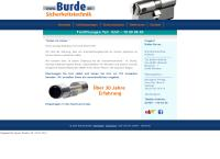 Website von Burde Sicherheitstechnik